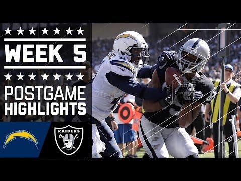 Chargers vs. Raiders | NFL Week 5 Game Highlights