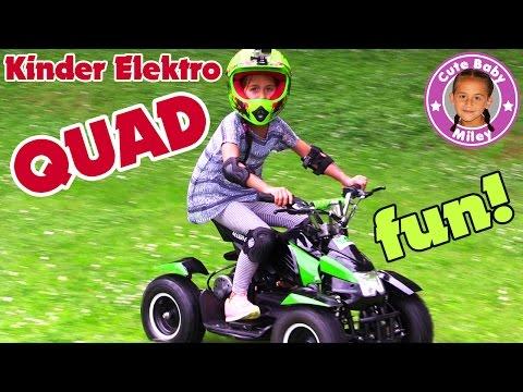 Kinder ELEKTRO QUAD - Fun & Action für Miley u. Cihan | Kinderwelt Tube