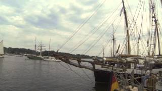 preview picture of video 'Hanse Sail - Rostock Stadthafen'