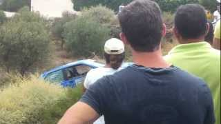 preview picture of video 'II cronometrada de rally villa de nijar 2012 accidente3'