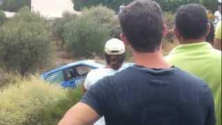 preview picture of video 'II cronometrada de rally villa de nijar 2012 accidente3'