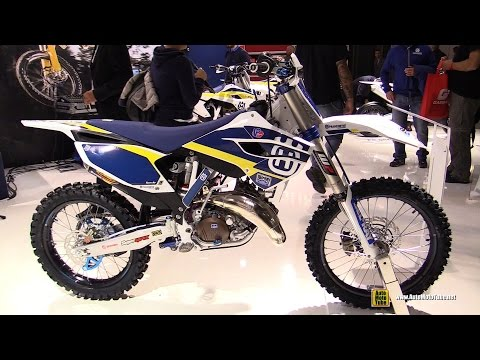 2015 Husqvarna TC 125 Husky Power Motocross Bike - Walkaround - 2014 EICMA Milan Motorcycle Show