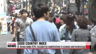 South Korea ranks 47th on Good Country Index