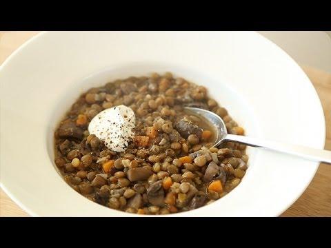 Mushroom and Lentil Soup – Everyday Food with Sarah Carey
