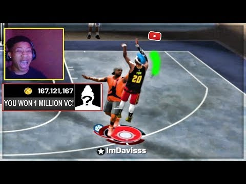 DONATING STREAMERS 1 MILLION VC IF THEY WIN.. NBA 2k19 my park stream sniping