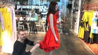 Transforming Fire Dress From Linen Dresses Collection