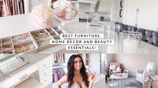 BEST FURNITURE, HOME DECOR, BEAUTY & FASHION ITEMS ALL AROUND OUR HOUSE! VLOG!🏠💕