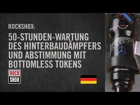 RockShox: 50-Stunden-Wartung des Hinterbaudämpfers und Abstimmung mit Bottomless Tokens