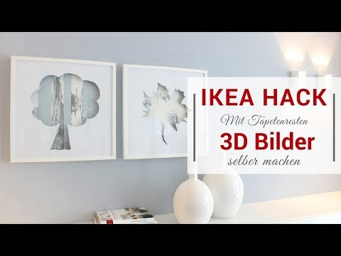 Ikea-Hack: Ribba Bilderrahmen | #3 | Upcycling: 3D Bilder mit Tapetenresten