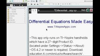 Step by step calculus for the ti nspire cas cx most popular videos step by step differential equations made easy on the tinspire cas cx urtaz Image collections
