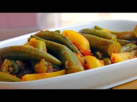 Persian Okra Stew with Potatoes – Vegan Vegetarian Recipe
