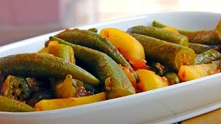 Okra Stew with Potatoes | Persian Vegetarian Recipe