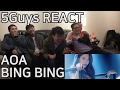 AOA - BING BING (빙빙) 5Guys MV FUNNY REACT