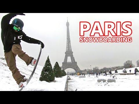 EIFFEL TOWER SNOWBOARDING SESSION - PARIS, FRANCE