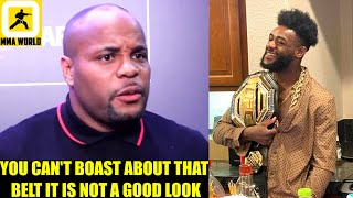 Daniel Cormier reacts to Aljamain Sterling posing with his belt after UFC 259 DQ win,Dana on Zabit