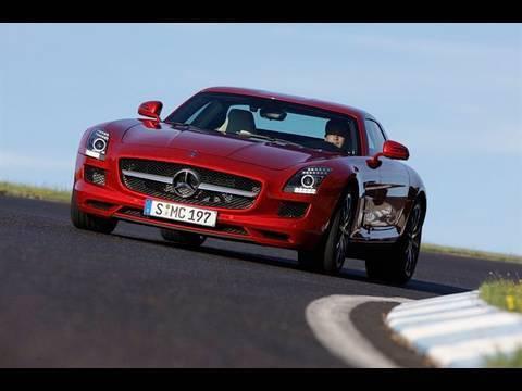 Mercedes SLS supercar driven by autocar.co.uk