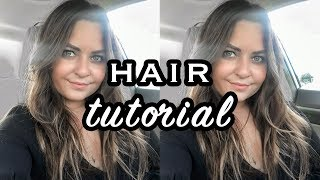 Wavy Effortless Hair Tutorial