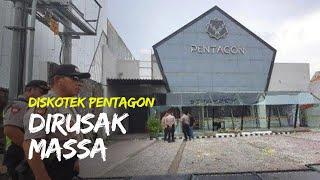 Sejumlah Massa Merusak Diskotek Pentagon di Tegalsari Surabaya, Saksi: Ya Banyak Mas Jumlahnya