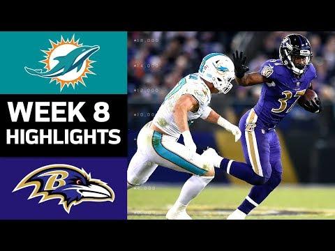 Dolphins vs. Ravens | NFL Week 8 Game Highlights