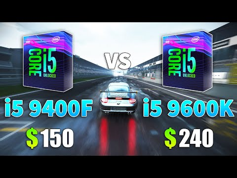 兩種九代 i5 9400F vs i5 9600K 遊戲上的表現