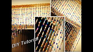 Paper Beads Curtain DIY|Step By Step|Paper Craft Tutorial|How To Make Curtain With Paper|Art & Craft
