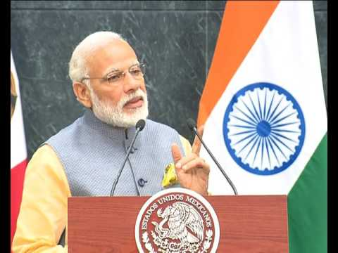 PM Modi's address at the Joint Press Statements in Mexico City, Mexico