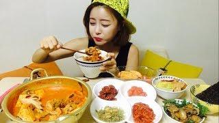 [광저우사는여자]참치김치찌개&냉장고 속 반찬들 집밥먹방 mukbang