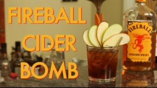 How To Make A Fireball Whisky Apple Cider Bomb Cocktail | Drinks Made Easy