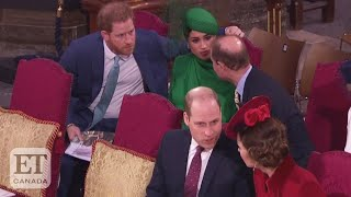Prince William And Kate Middletons Awkward Greeting For Prince Harry And Meghan Markle
