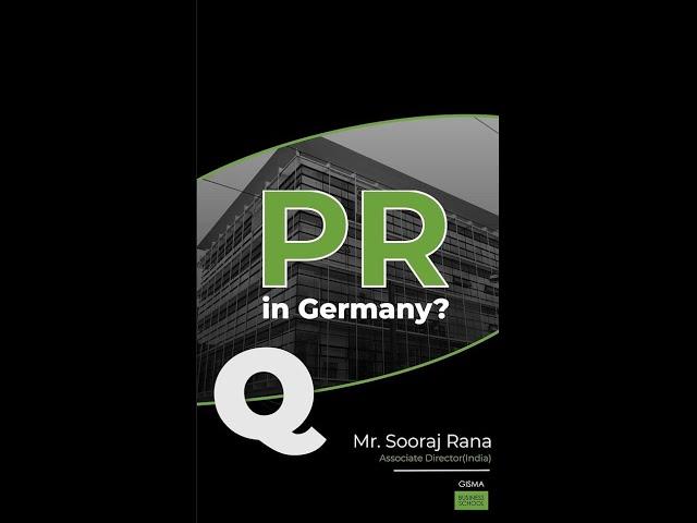 PR in Germany?