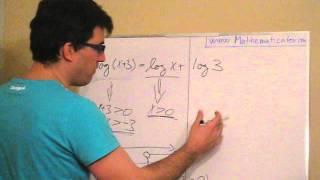 Logaritmická rovnice 2