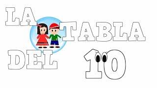 La Tabla del 10 -  Tablas de Multiplicar - Vídeos educativos para Niños y Bebés - Paty y Poty