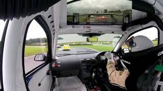 Oulton Park 2017 CSCC New millennium race Start onboard the Dennis Racing Mondeo ST220 DR1