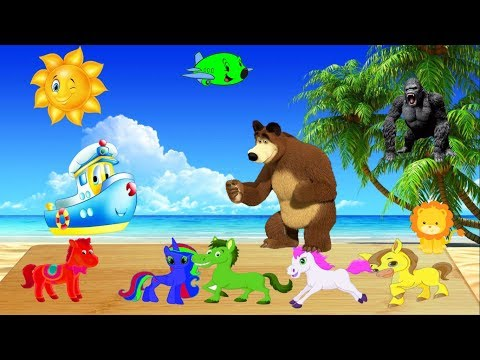 Learn Colors with Colorful Horse Nursery Rhymes for Kids Toddlers