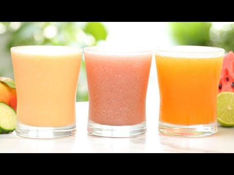Summer Drinks 3 Delicious Ways | Frosty, Fresh & Fruity