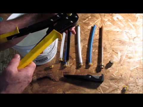 Different types of Pex Pipe.   Freezer test.  A few winter tips as well. Plumbing Tips!