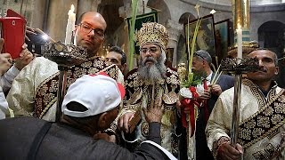 Вербное воскресенье в Свято-Иерусалимского гроба