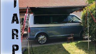 Das beste Sonnensegel für den VW Bus? - Qeedo Motor Tarp Dark Coating