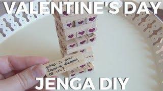 Valentine's Day Jenga ♥ DIY