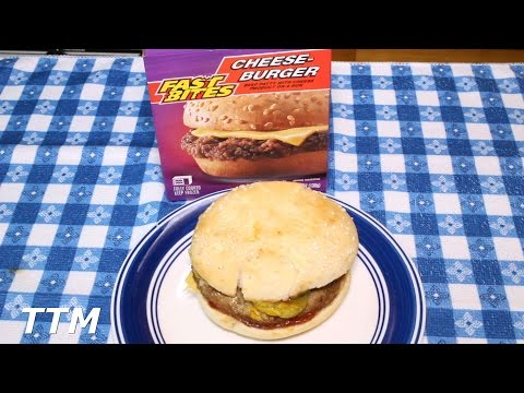 Dollar Tree Fast Bites Cheeseburger Review~Frozen Burger Cooked in the Toaster Oven