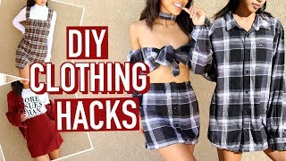 FLEX ON YOUR EX: 3 DIY FLANNEL SHIRT CLOTHING HACKS!   DIY   Nava Rose