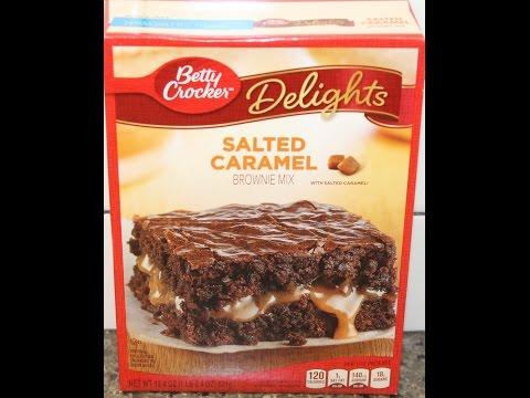 betty crocker delights salted caramel brownie mix preparatio