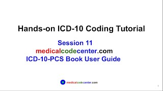 Hands-on ICD-10 Tutorial Session 11: ICD-10-PCS Book User Guide