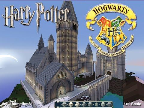 hogwart's school of witchcraft & wizardry (1x1 scale) minecraft project