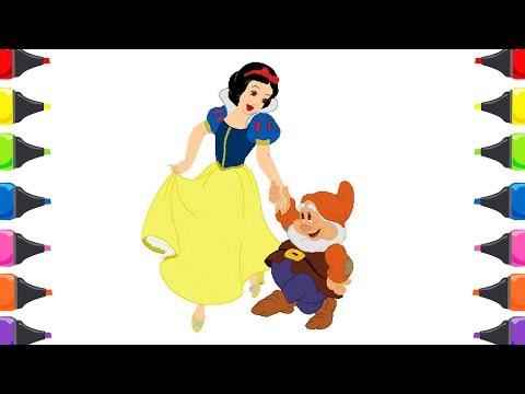 Pamuk Prenses Ve Yedi Cüceler Boyama Sayfaları Evimin Altın Topu