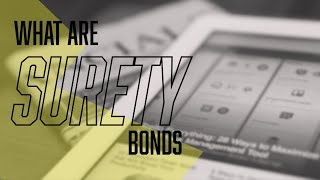 Surety Bonds 101 - What Are Surety Bonds and How Do They Work