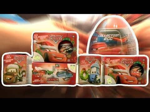 Cars 10 PIXAR Disney Kinder Surprise Eggs Lightning McQueen