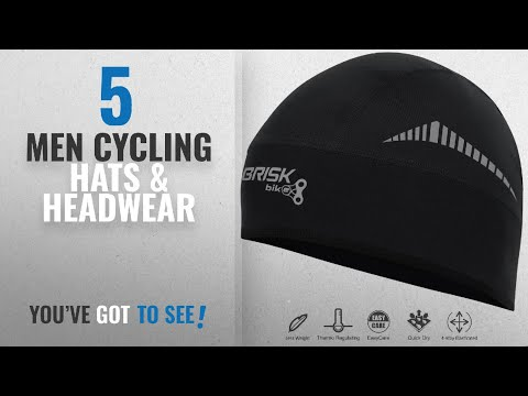 Top 10 Men Cycling Hats & Headwear [2018]: Brisk cycling skull cap under helmet thermal tight fit