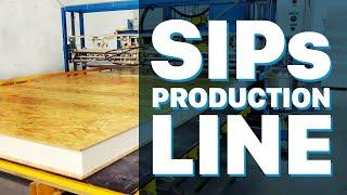 SANDWICH PANEL AUTOMATIC GLUING