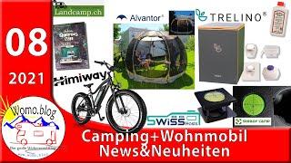 Camping + Wohnmobil News und Neuheiten 8/21